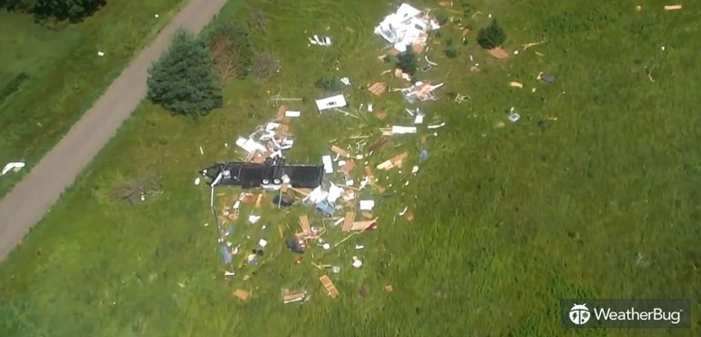Video: Tornadoes Damage Structures, Snap Trees In Eastern Minnesota |  WeatherBug